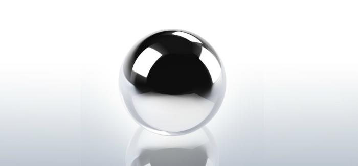 pinball ball silver