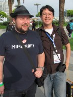 Notch and WiNGSPANTT at E3 2011 Minecraft