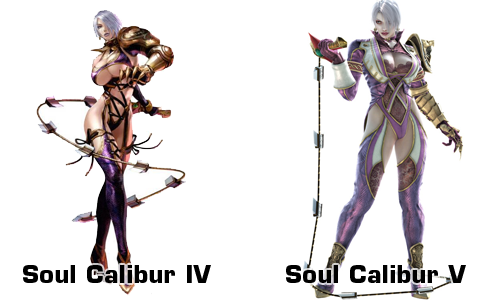 ivy soul calibur 4 and 5 comparison IV V
