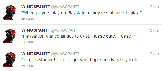 Wingspantt jaded about playstation 4